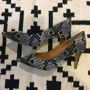 J. Crew Shoes - J. Crew ikat 'Isabelle' black and white pumps